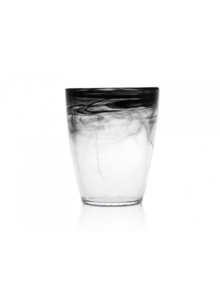 Bicchiere alabastro nero in...