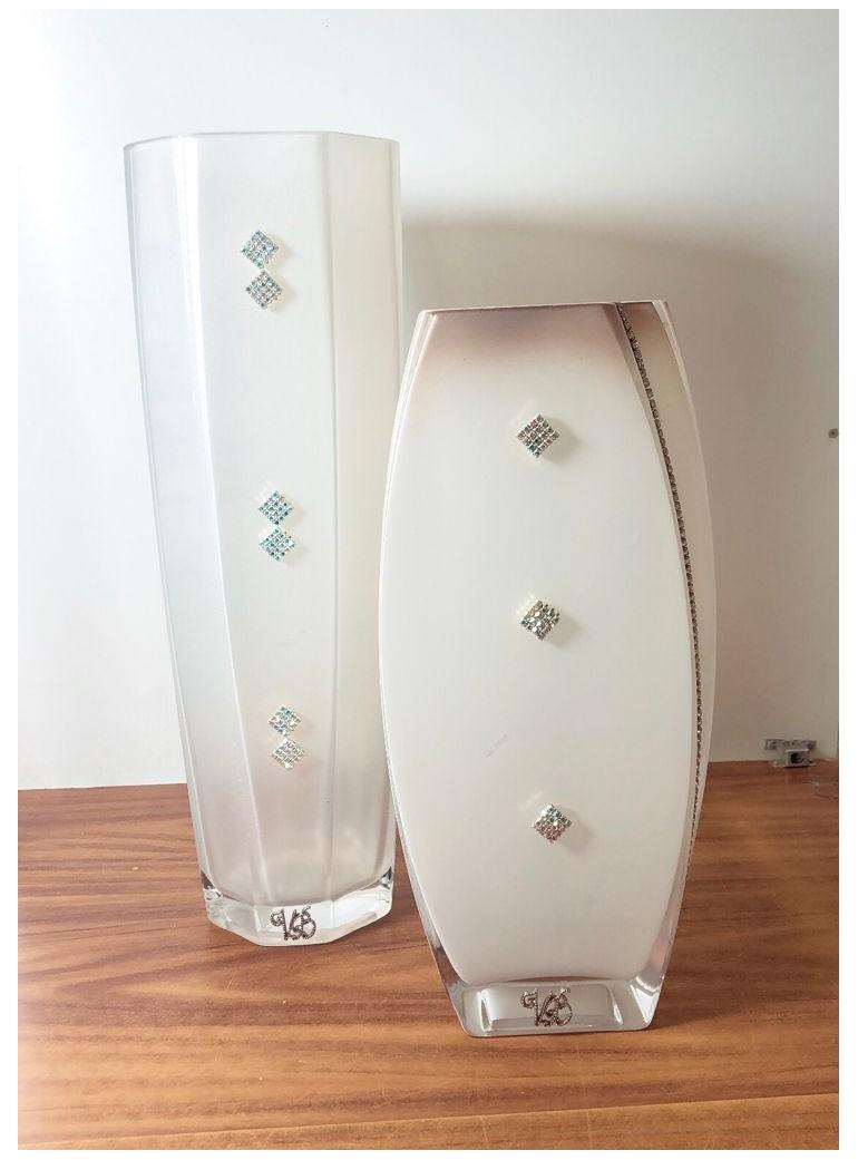 Coppia di Vasi in vetro